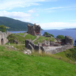 Urquhardt Castle am Loch Ness