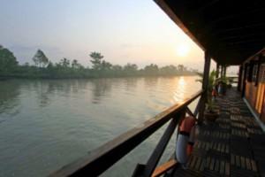 Reisebericht Vietnam: Abendstimmung auf dem Mekong