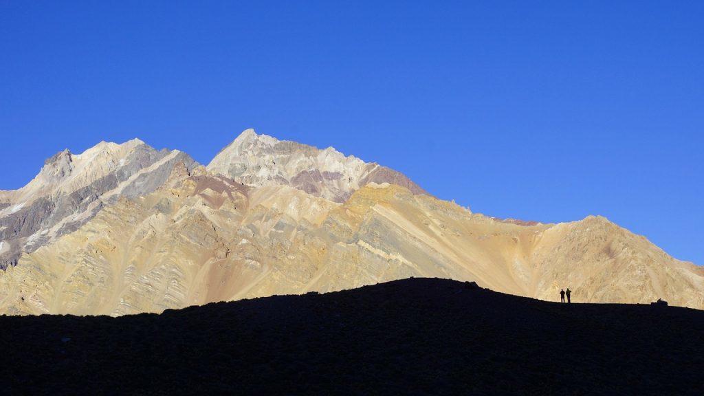 Blick auf den Aconcagua-Gipfel