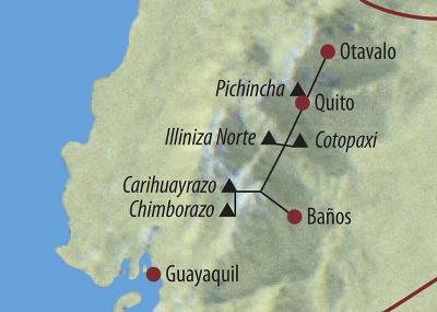 Argentinien: Karte und Tourenverlauf Cotopaxi und Chimborazo