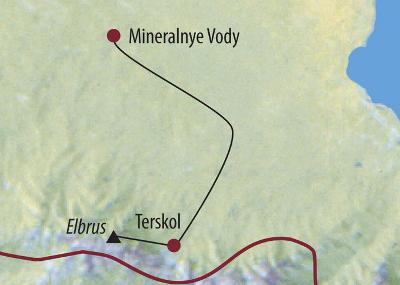 Argentinien: Karte und Tourenverlauf Elbrus Expedition