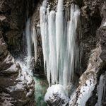 Gefrorener Wasserfall in der Breitachklamm