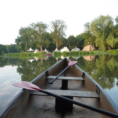 Anfahrt mit dem Kanu