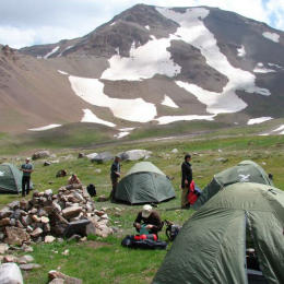 Zeltlager Zagrosgebirge