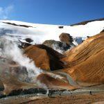 Gletscher und Geysir