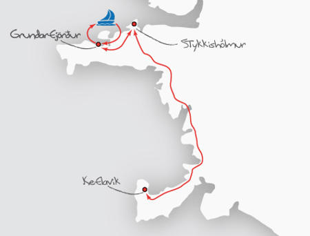 Norwegen: Karte und Tourenverlauf Expedition zu den Orcas