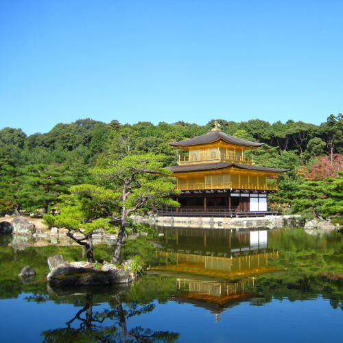 Japan: goldener Pavillon in Kyoto