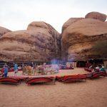 Freiluftcafé in Petra