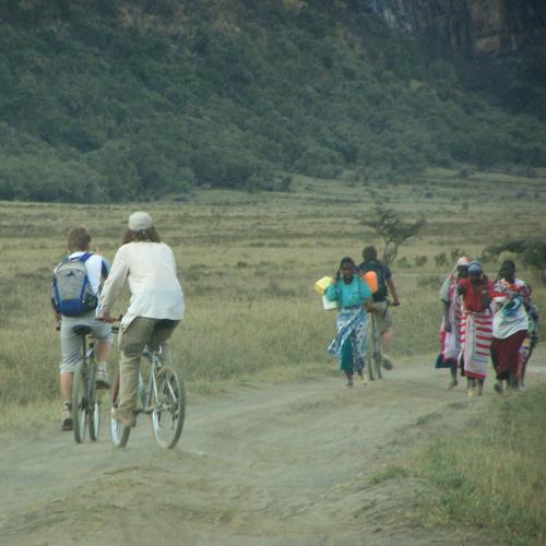 Fahrrad Begegnung