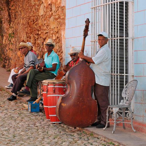 Straßenmusiker in Kuba