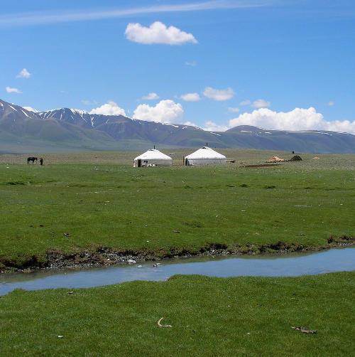 Nomaden-Jurten in der Mongolei