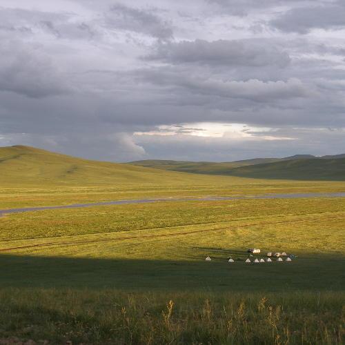 Steppe mit Jurten