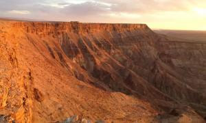 Fish River Canyon in Namibia am Morgen