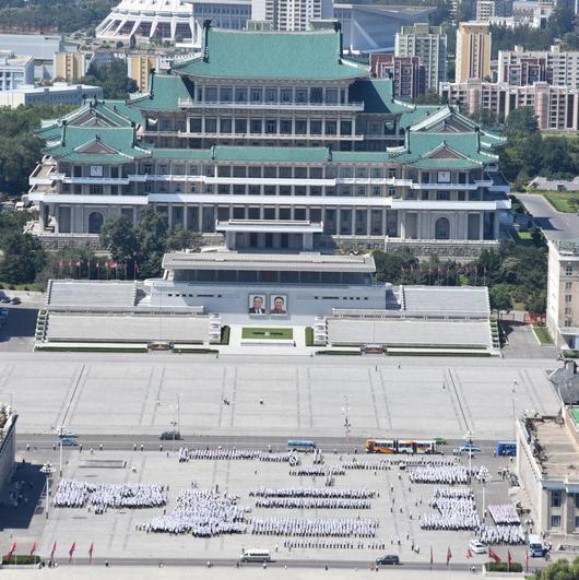 Nordkorea Kundgebungshalle
