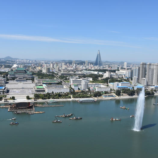 Blick vom Jucheturm auf Pjöngjang