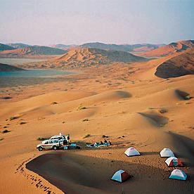 Zeltlager Wüste