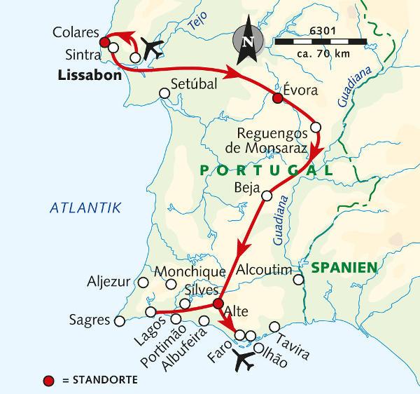 Madeira: Karte und Tourenverlauf Wandern und Kultur in Portugal