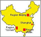 China: Karte und Tourenverlauf Erhai-See, Tigersprungschlucht und Guilin