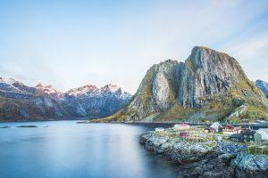 Norwegen - Hafen auf den Lofoten