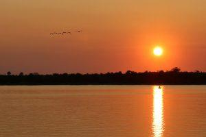 Sambia - Sonnenuntergang am Sambesi