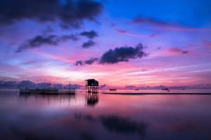 Sonnenaufgang auf der Insel Phu Quoc in Vietnam
