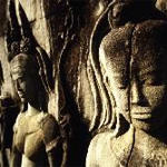 Figuren in Angkor Wat