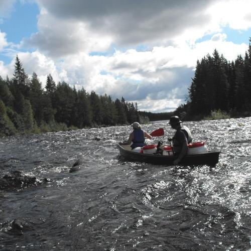 Kanus unterwegs